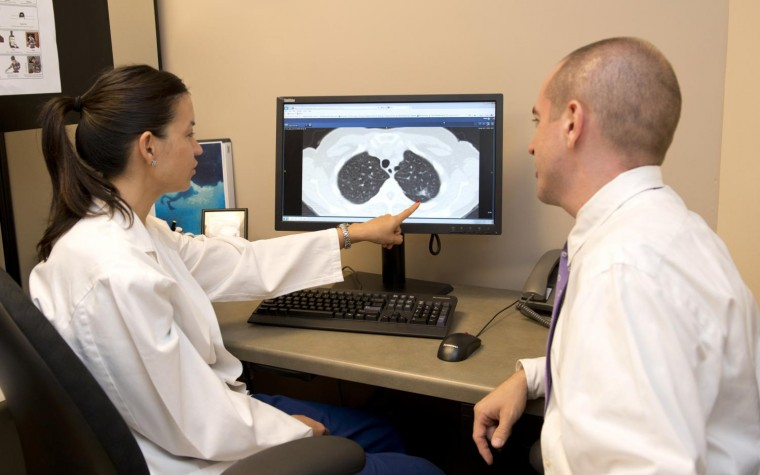Lung cancer screening paired with smoking cessation