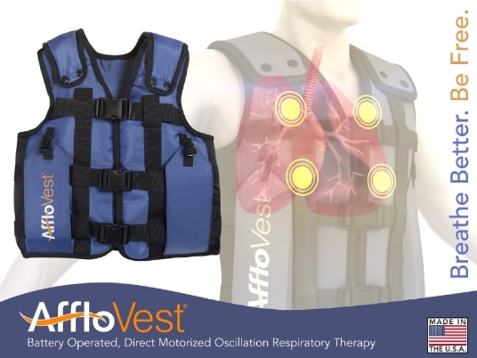 Pulmonary function improvement with AffloVest